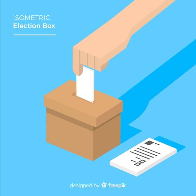 Vista isométrica da caixa de eleição Vetor grátis
