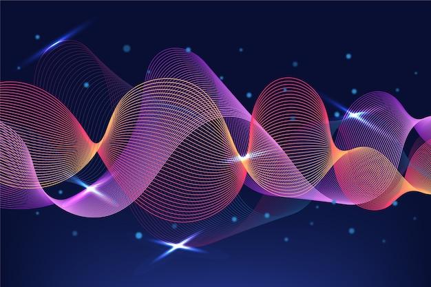 Visual de fundo de equalizador de ondas sonoras Vetor grátis