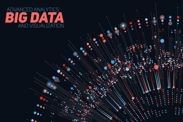 Visualização colorida circular de big data. Vetor grátis