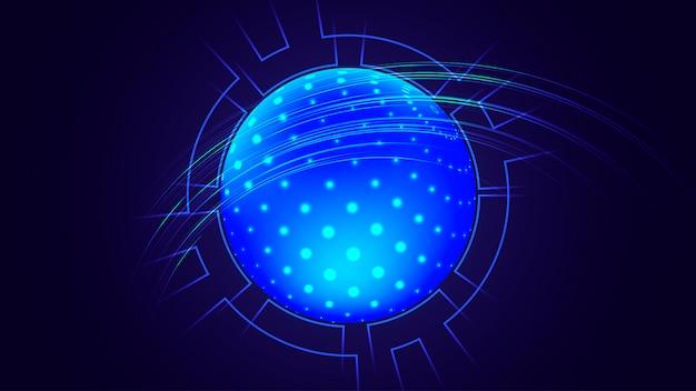 Visualização de big data. fundo futurista. Vetor Premium