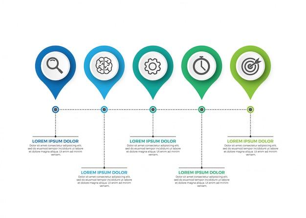 Visualização de dados corporativos Vetor Premium