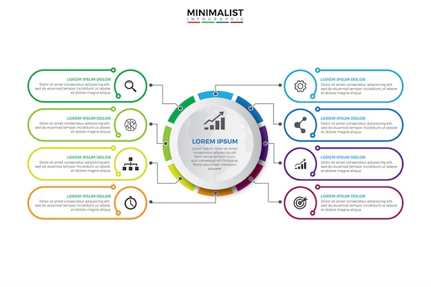 Visualização de dados corporativos. Vetor Premium