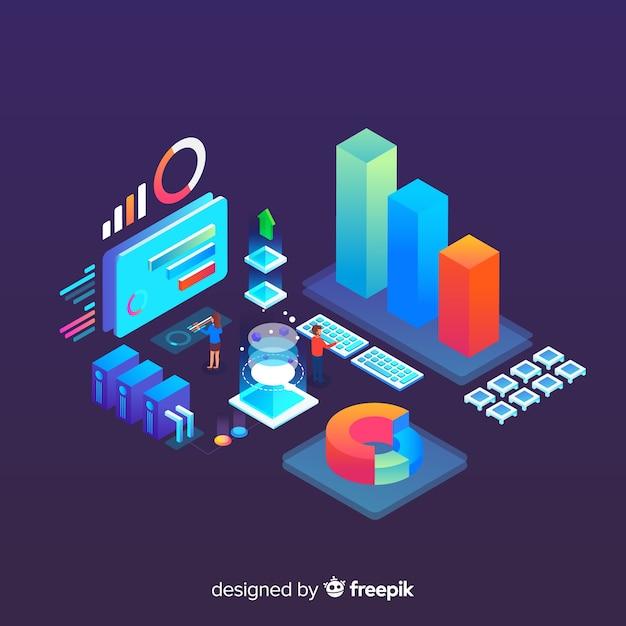 Visualização de dados Vetor grátis