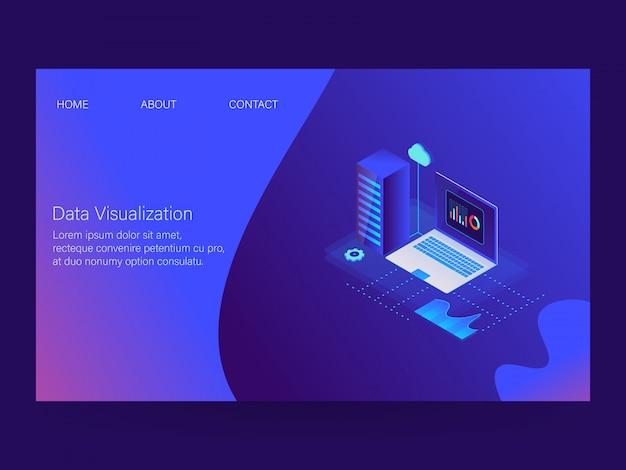 Visualização de dados Vetor Premium