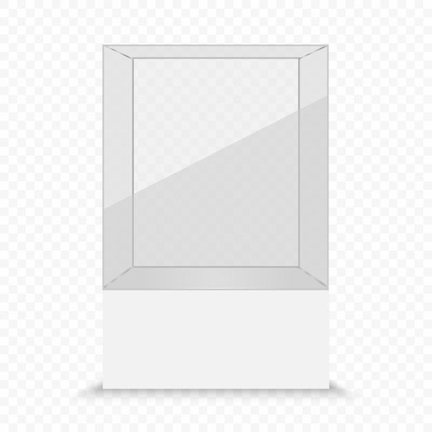 Vitrine transparente de vidro Vetor Premium