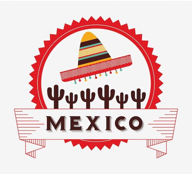 Viva mexico design Vetor Premium