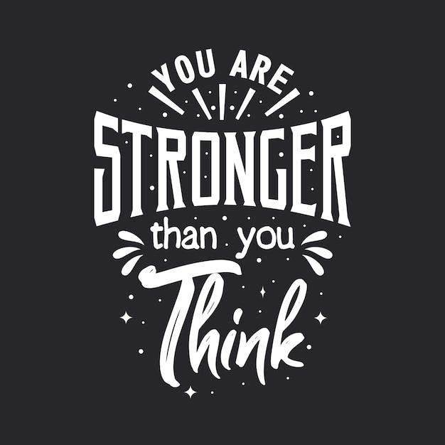 Você é mais forte do que pensa Vetor Premium