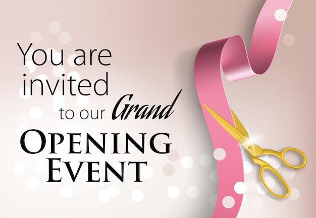 Você está convidado para o nosso evento de inauguração Vetor grátis