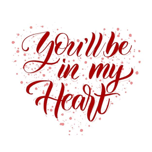 Você estará no meu coração Vetor Premium