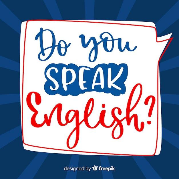 Você fala inglês Vetor grátis