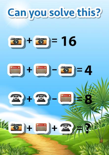 Voce Pode Resolver Este Problema De Matematica Vetor Premium