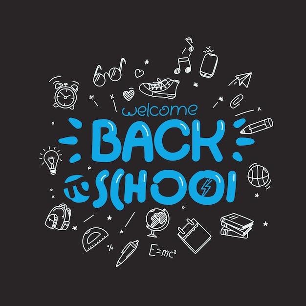 Volta para o modelo de cartão de escola Vetor Premium