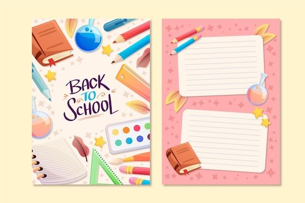 Volta para o tema do modelo de cartão de escola Vetor grátis