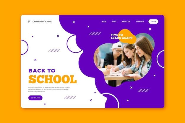 Voltar à página inicial da escola Vetor Premium