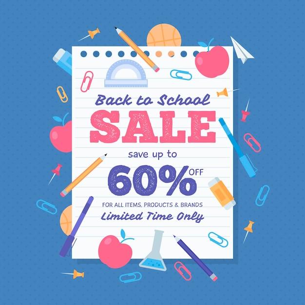 Voltar à venda da escola Vetor grátis