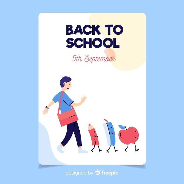Voltar ao modelo de cartão de escola Vetor grátis