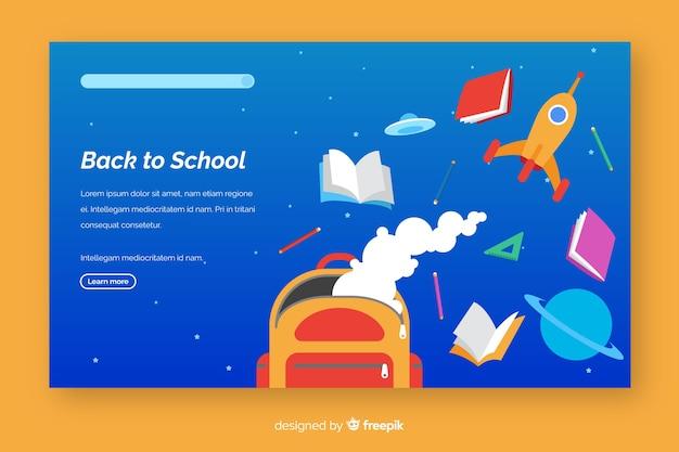Voltar ao modelo de página de destino da escola Vetor grátis