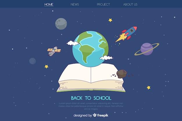 Voltar para a página de destino da escola Vetor grátis