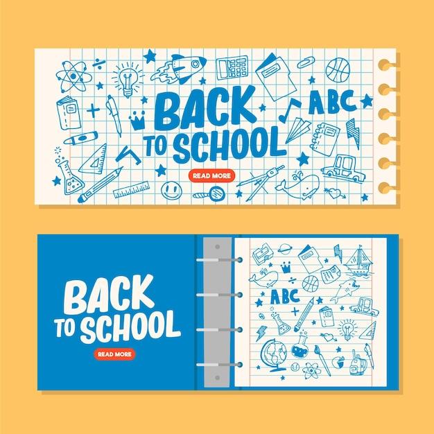 Voltar para banners escolares Vetor grátis