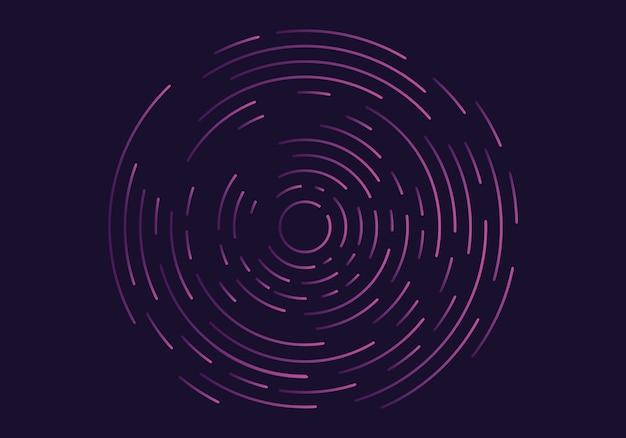 Vórtice geométrico abstrato Vetor Premium