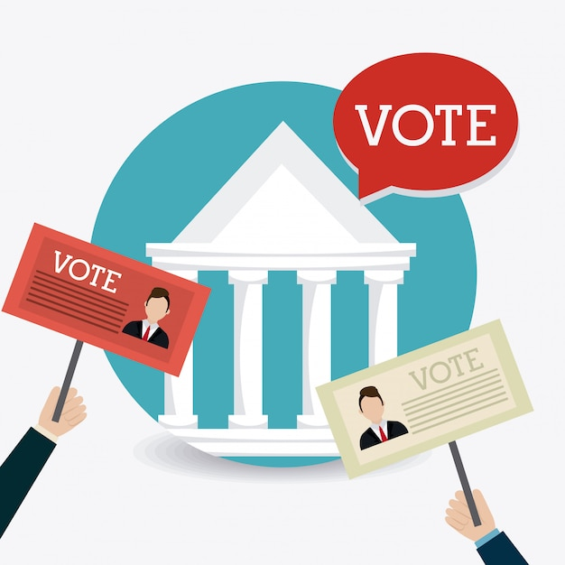 Votar projeto. Vetor Premium