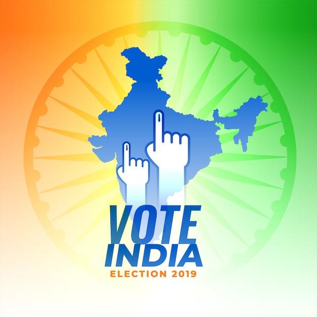 Vote para o fundo da eleição de india Vetor grátis