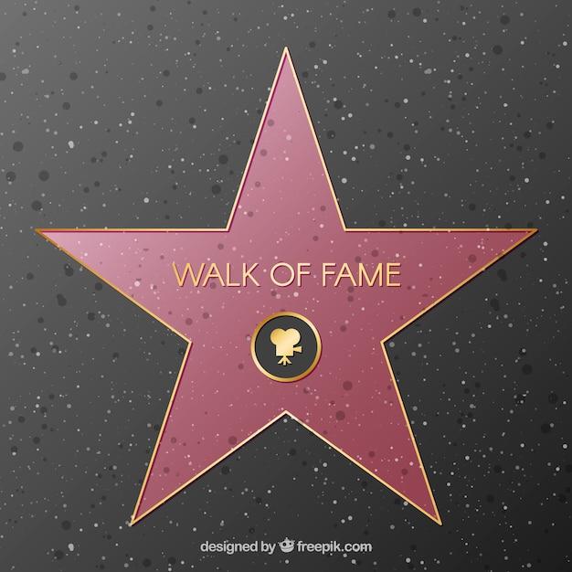 Walk of fame star background Vetor grátis