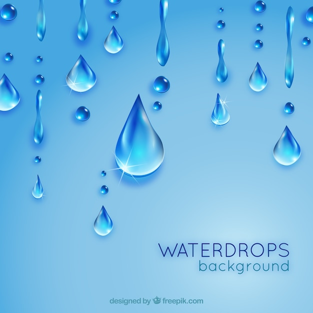 Waterdrops fundo Vetor grátis