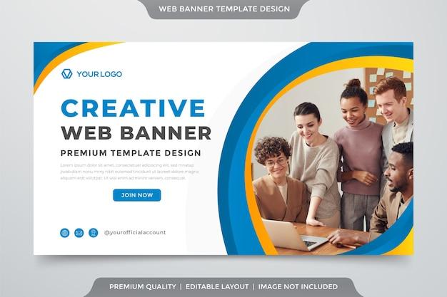 Web banner criativo Vetor Premium