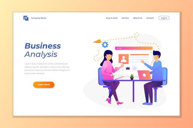 Web banner vector de fundo para análise de dados Vetor Premium