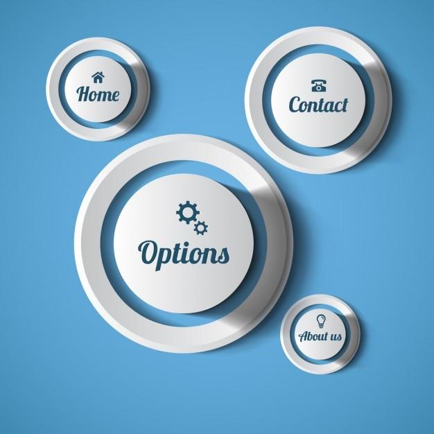 Web botões arredondados Vetor grátis