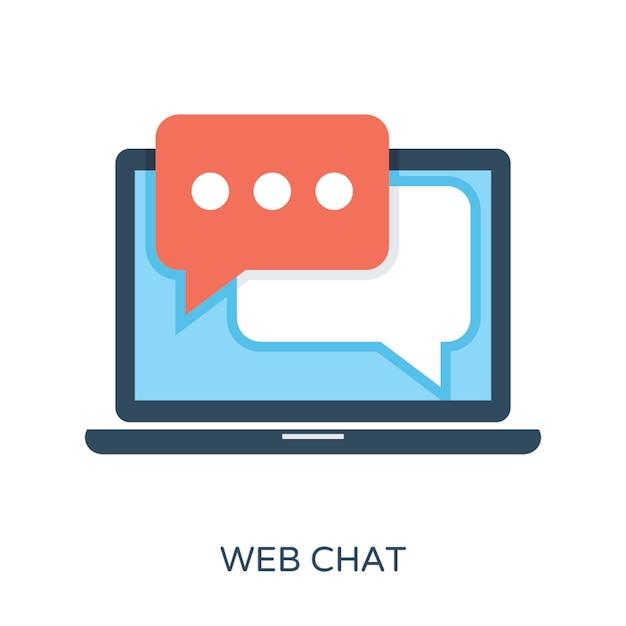 Web chat flat vector icon Vetor Premium