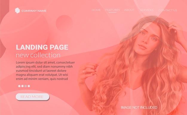 Web design de banner para página de destino de vendas Vetor grátis