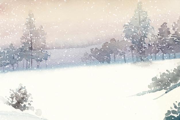 Winterland Vetor grátis