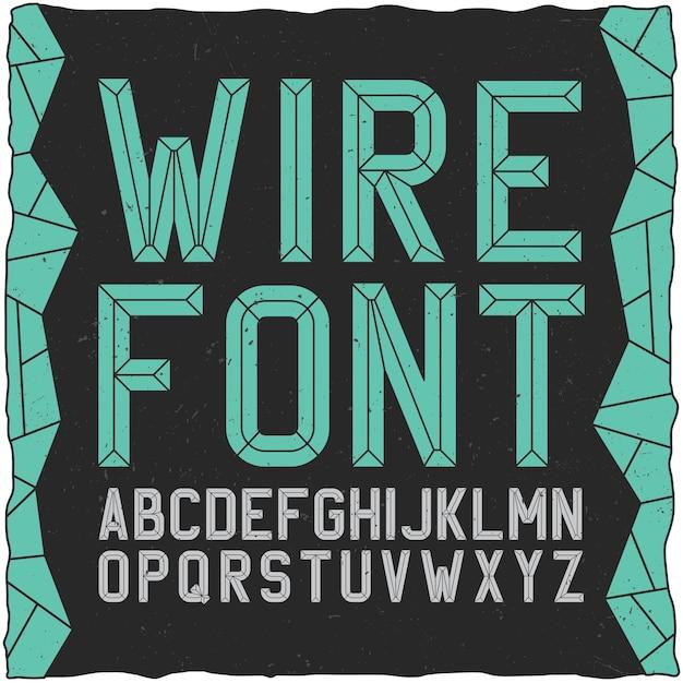 Wirefont em preto Vetor grátis