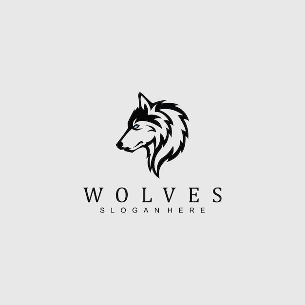 Wolf logo for qualquer empresa / negócio Vetor Premium