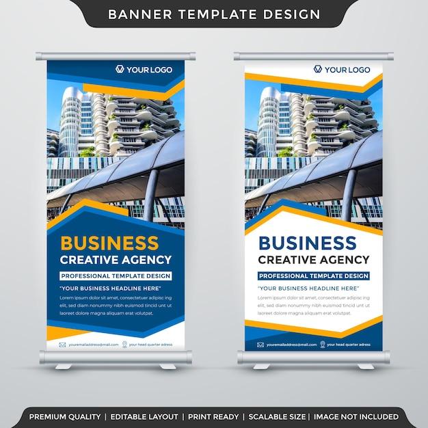 X modelo de design de banner com uso de estilo de fundo abstrato para anúncios de promoção Vetor Premium
