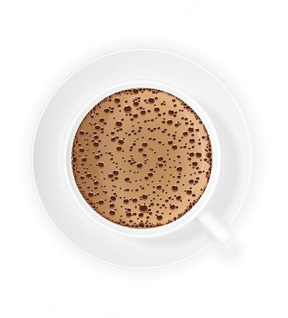 Xícara de café crema Vetor Premium