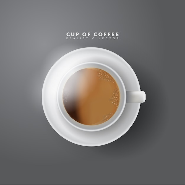 Xícara de café realista Vetor Premium