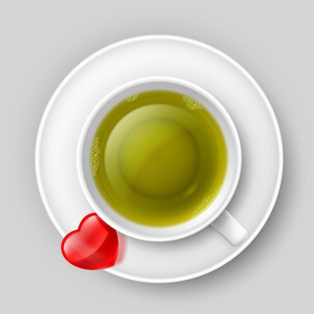 Xícara de chá Vetor Premium