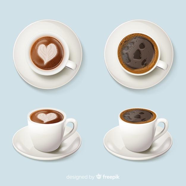 Xícaras de café Vetor grátis
