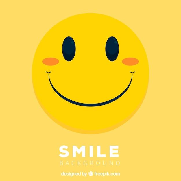 Yelow smiley background Vetor grátis