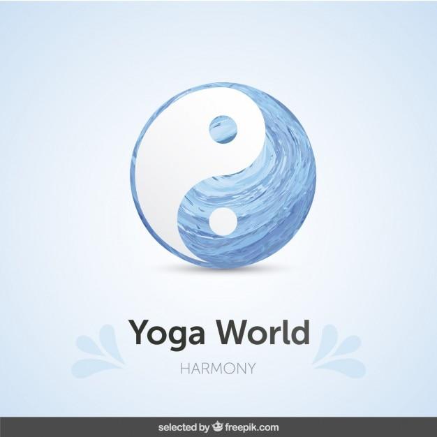 Ying yang símbolo fundo Vetor grátis