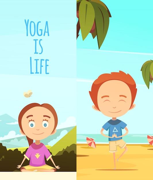 Yoga é ilustração da vida Vetor grátis