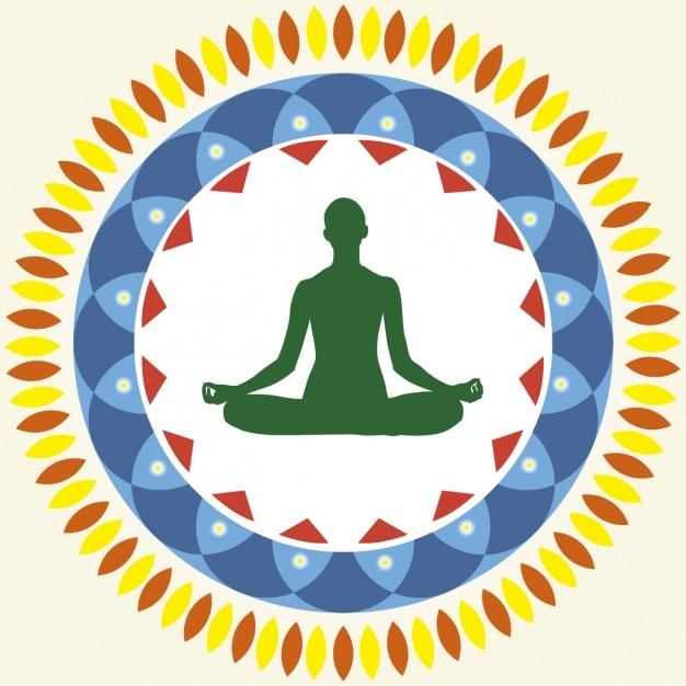 Yoga Posição de Lótus Vetor grátis