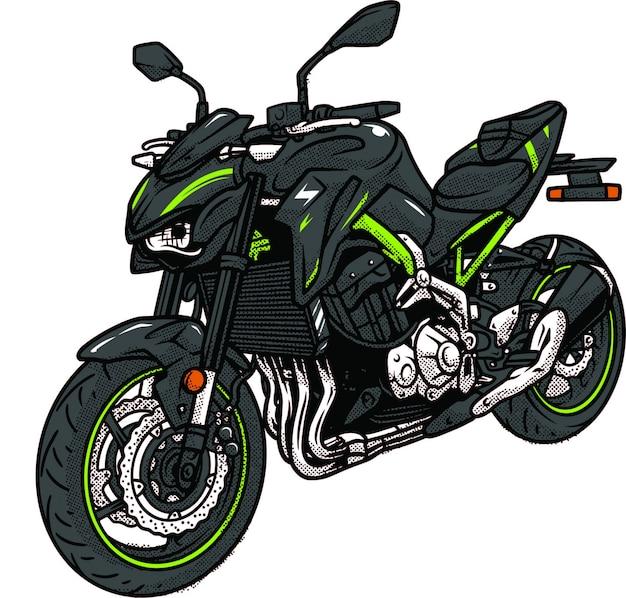 Z800 motor sport Vetor Premium
