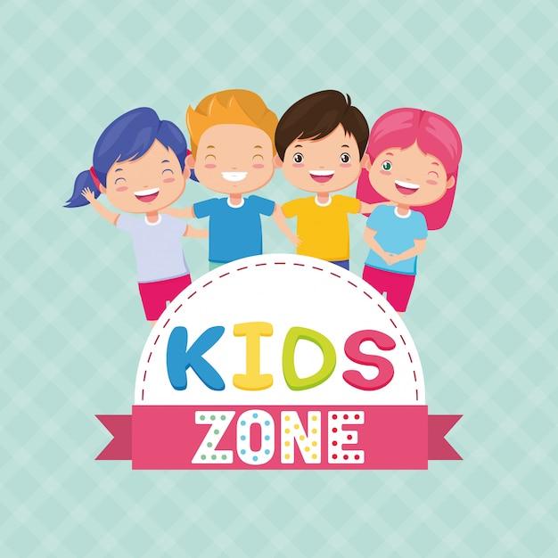 Zona de crianças Vetor grátis