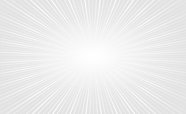 Zoom branco elegante raios fundo vazio Vetor grátis