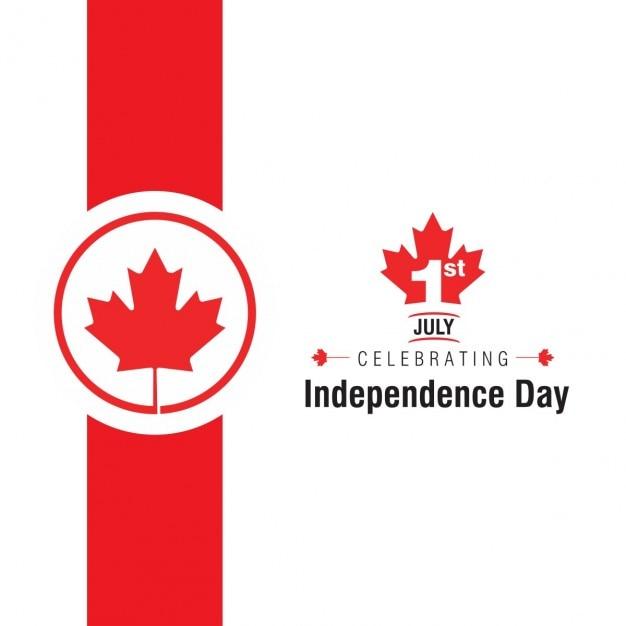 1 luglio celebrando il giorno dell'indipendenza Vettore gratuito