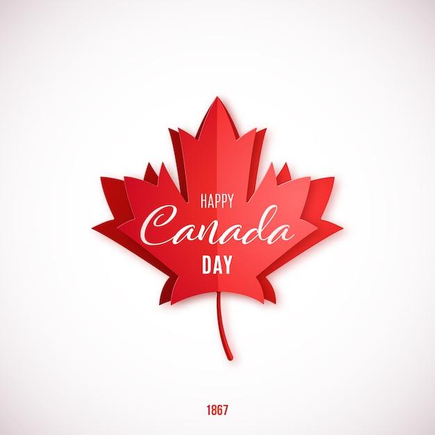 1 luglio, happy canada day. Vettore Premium